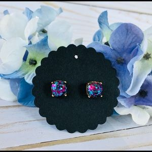 Glitter earrings studs